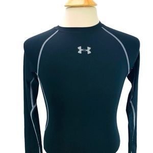UA HeatGear Armour Compression Shirt Black / Steel